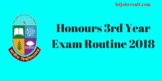 NU Honours 3rd Year Exam Routine