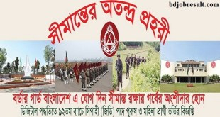 Border Guard Bangladesh Job Circular