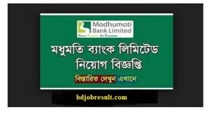 Modhumoti Bank Ltd Job Circular