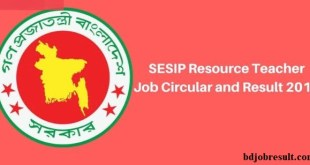 SESIP Resource Teacher Job Circular Result