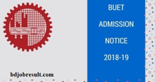 BUET Admission Notice