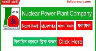 Nuclear Power Plant Company Job Circular