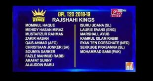 Rajshahi Kings Player List, Match Schedule and Fixture BPL