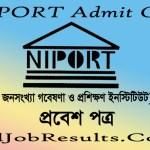 NIPORT Admit Card 2021