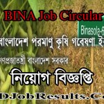BINA Job Circular 2021