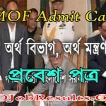 MOF Admit Card 2021