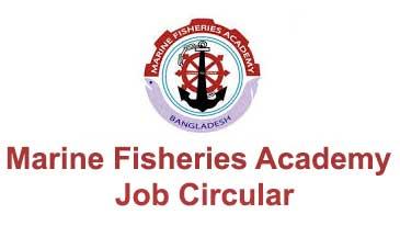Marine Fisheries Academy Job Circular
