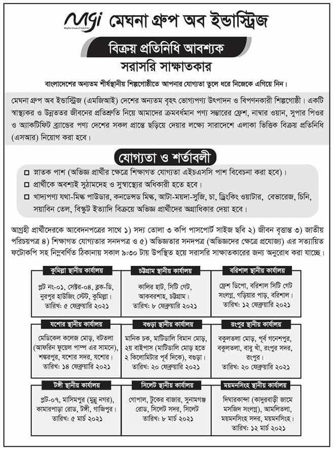 Meghna Group Job Circular March 2021
