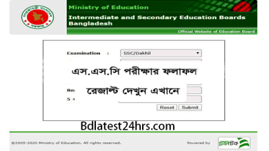 SSC Result 2020 All Education Board in Bangladesh