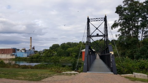The Two Cent Bridge is pictured in downtown Waterville on Aug. 30, 2016.