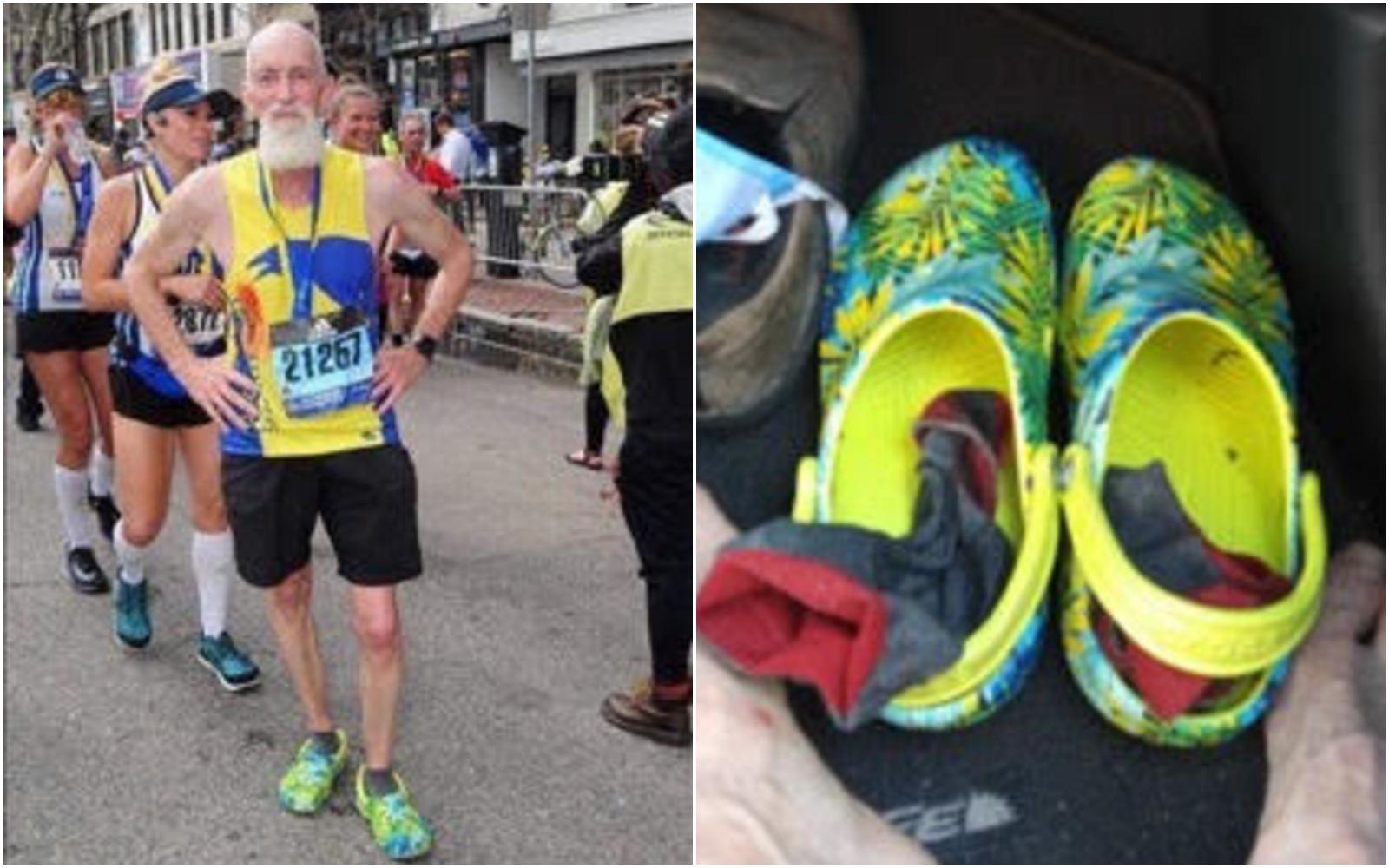 This Ellsworth runner wears Crocs to