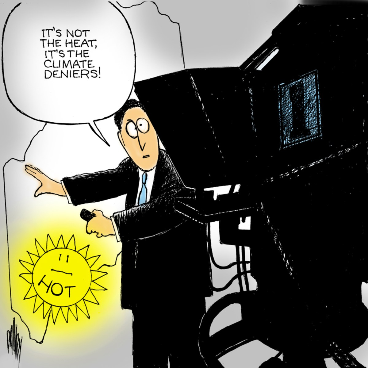 Weather man forecasting
