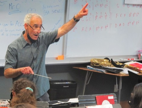 40 years ago, he almost quit teaching. Now he's retiring as one of Maine's most accomplished music teachers.