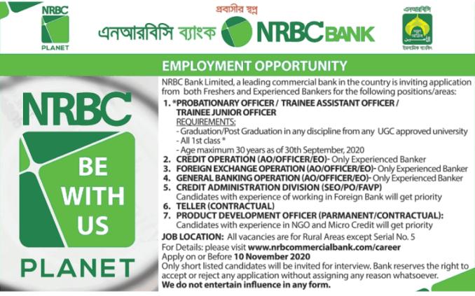 nrbc commercial bank job circular 2020