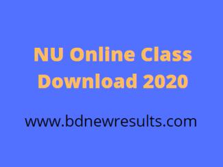 nu online class download 2020