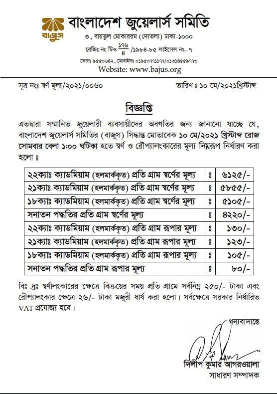 22k Gold Price in Bangladesh Today