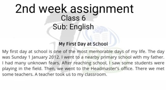 class-6-english-assignment-answer