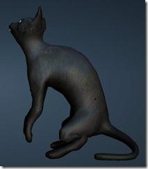 Black Thin Cat Side