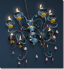Ruby-decorated Chandelier Bottom
