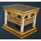 Calpheon Marble and Gold Bedside Table
