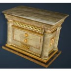 Calpheon Marble and Gold Drawers