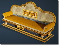 Calpheon Marble and Gold Sofa