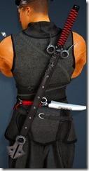 Canape Short Sword Ninja Stowed