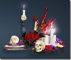 Halloween Table Set Side