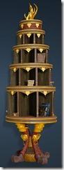 Kzarka Decorated Bookshelf Side