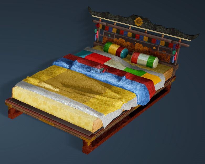 BDO Fashion   Urimok Bed (Black Desert Online)