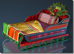 Christmas Decorated Bed