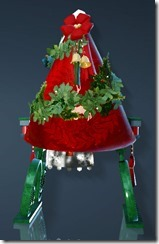 Christmas Decorated Chair Back