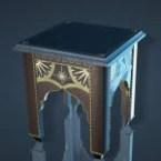 Volcanic Rock Decorated Bedside Table