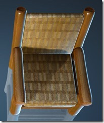 Natural Log Chair Top