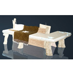 Frosty Wood Sofa