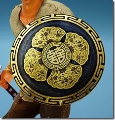 Warrior Red Robe Shield Drawn