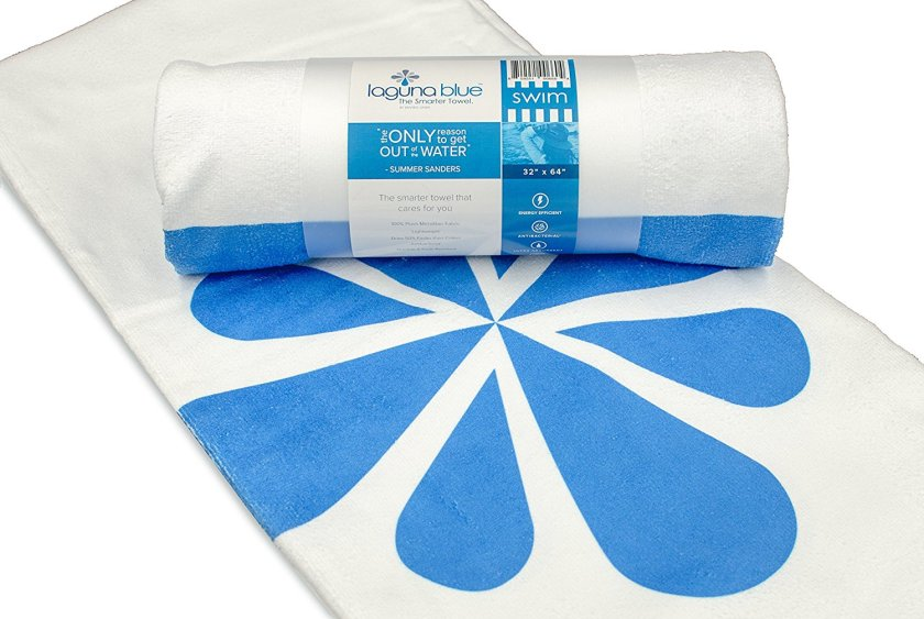 Laguna Blue Microfiber Towels