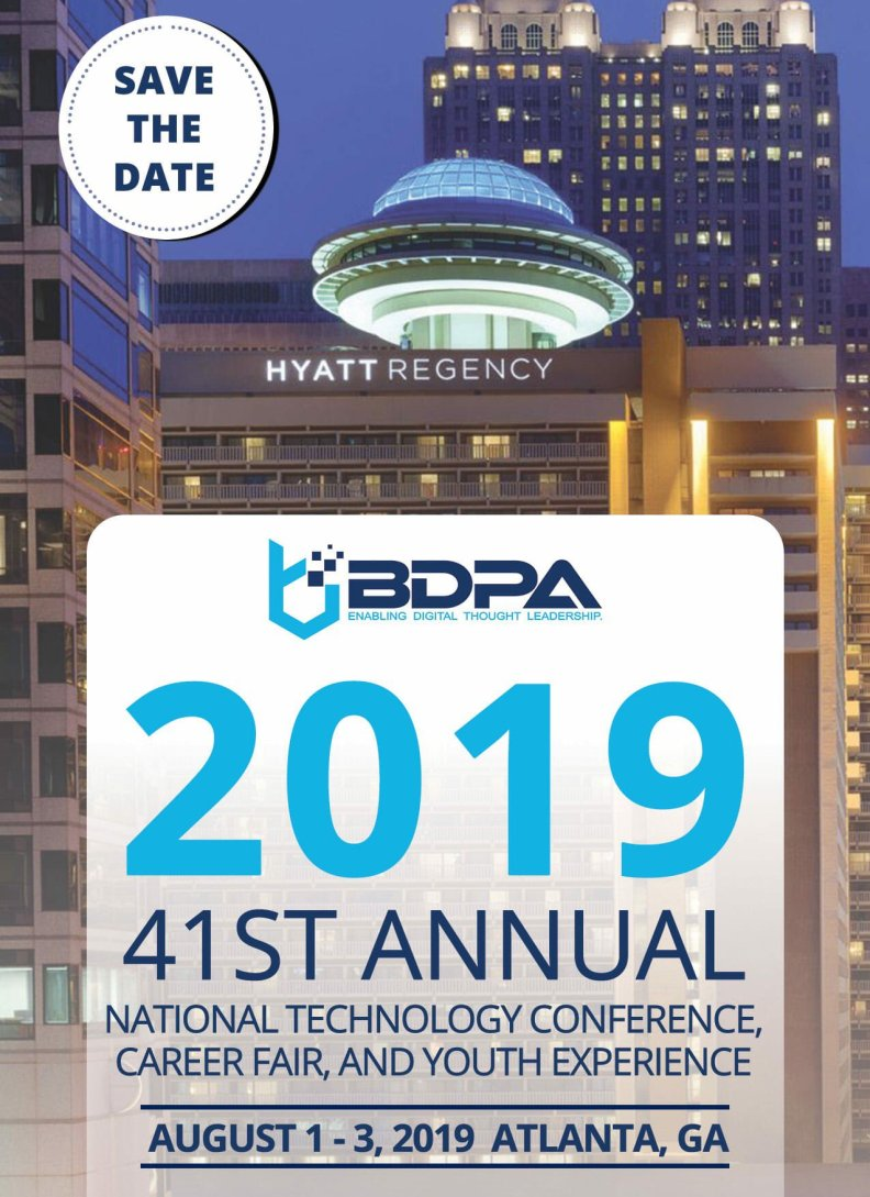 #BDPACON19 | August 1-3, 2019 | Atlanta, GA