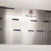 Brushed aluminium photoboard