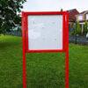 Red notice board