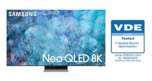 A Samsung Neo QLED televíziói elnyerték a VDE Optimalizált Térhangzás tanúsítványát