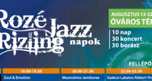 Rozé, Rizling és Jazz Napok – 2021-es programbejelentés
