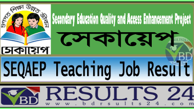 SEQAEP Teaching Job Result