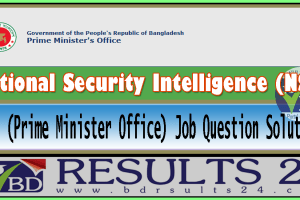 NSI Prime Minister Office Job Question Solution