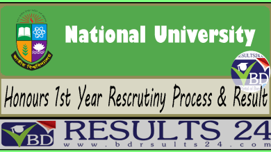 National University Honours 1st Year Rescrutiny Process & Result