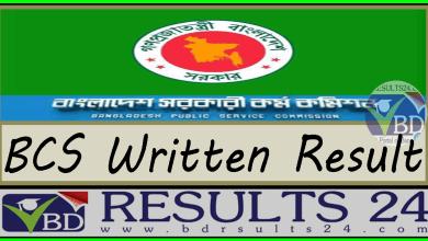 BCS Written Result www bpsc gov bd