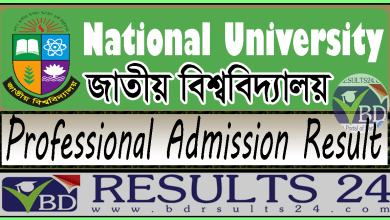 National University Professional Admission Result