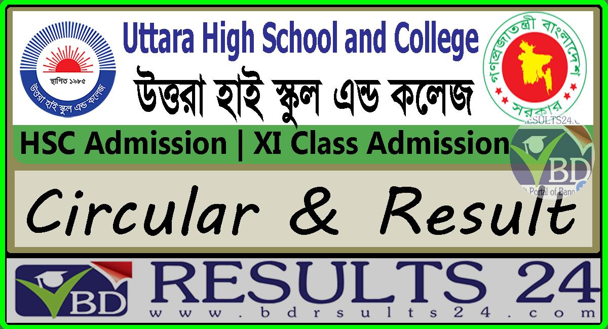 Uttara High School and College HSC Admission