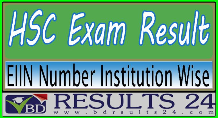 HSC Result EIIN Number Institution Wise