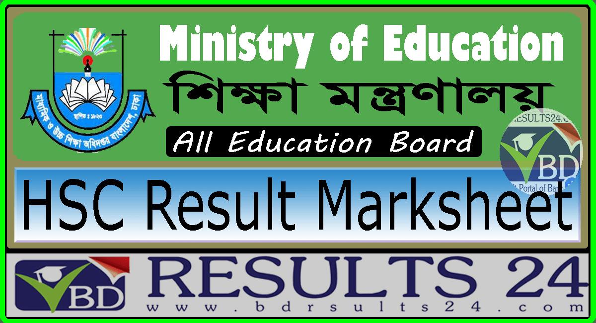HSC Result Marksheet